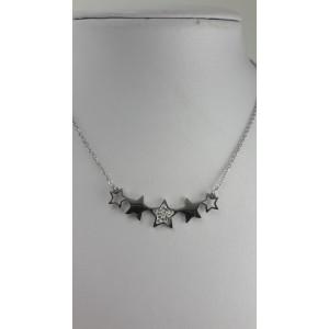 Collier mit 5 Sternen und Kristallen