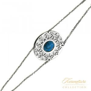 Ocean Blue Armband Edelstahl mit Türkis