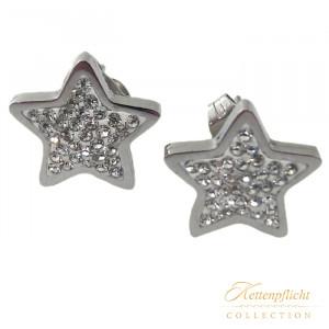 Ohrstecker Sterne mit Kristallen
